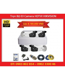 Trọn Bộ 04 Camera HIKVISION DS-2CE16C0T-IT3 (1.0MP)