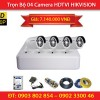 Trọn Bộ 4 Camera HIKVISION DS-2CE16C0T-IR (1.0MP)
