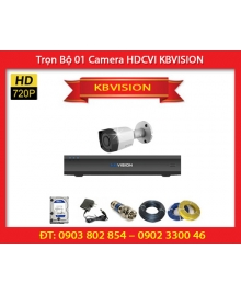 Trọn Bộ 01 Camera KBVISION KB-1001C (1.0MP)