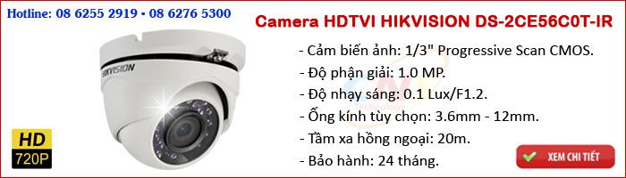 Camera HDTVI HIKVISION DS-2CE56C0T-IR